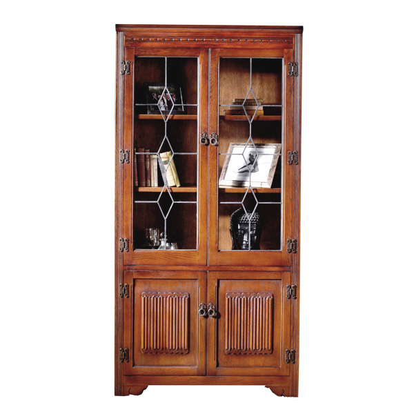 Old Charm Bookcase : Old charm bookcase with leadlight doors choice furniture