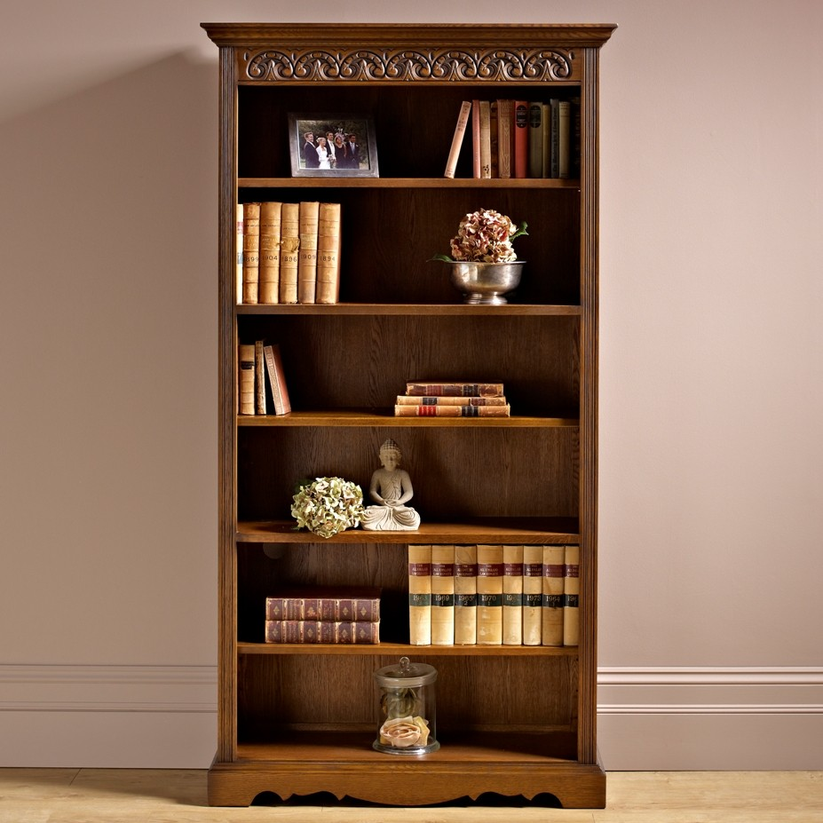 Excellent Bookcases With Books Yvotubecom - Old book case