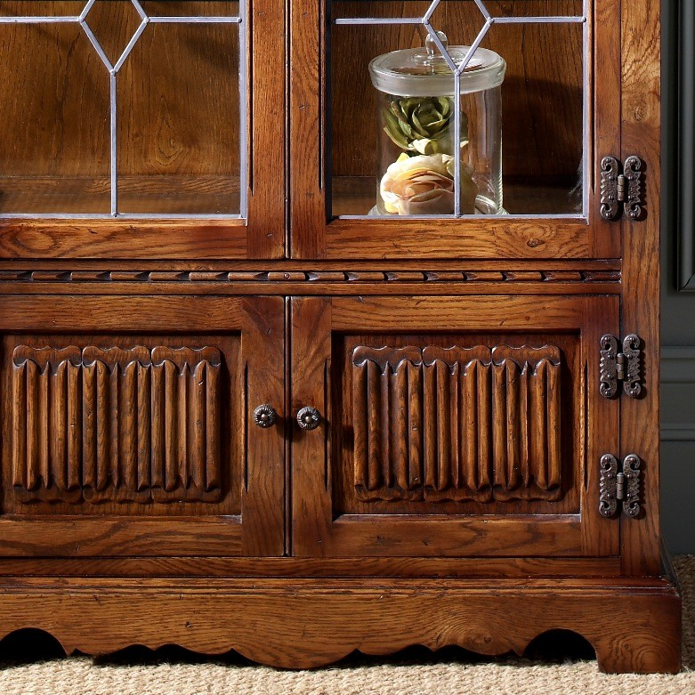 Old Charm Hand Carved Display Cabinet Choice Furniture