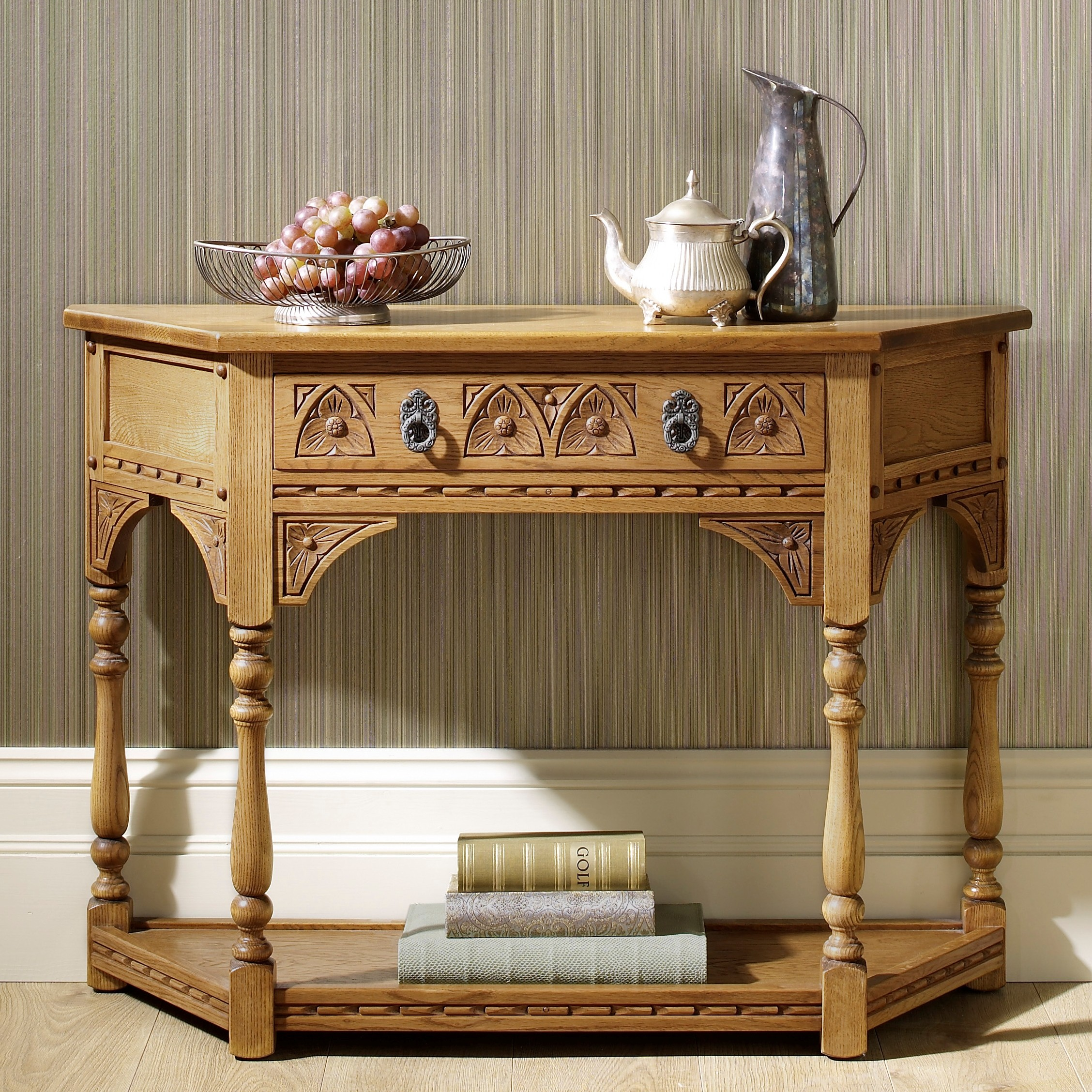 Old Charm Canted Console Table Choice Furniture