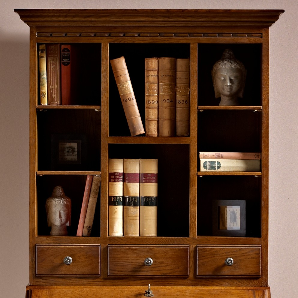 old charm rose bureau with display top choice furniture. Black Bedroom Furniture Sets. Home Design Ideas