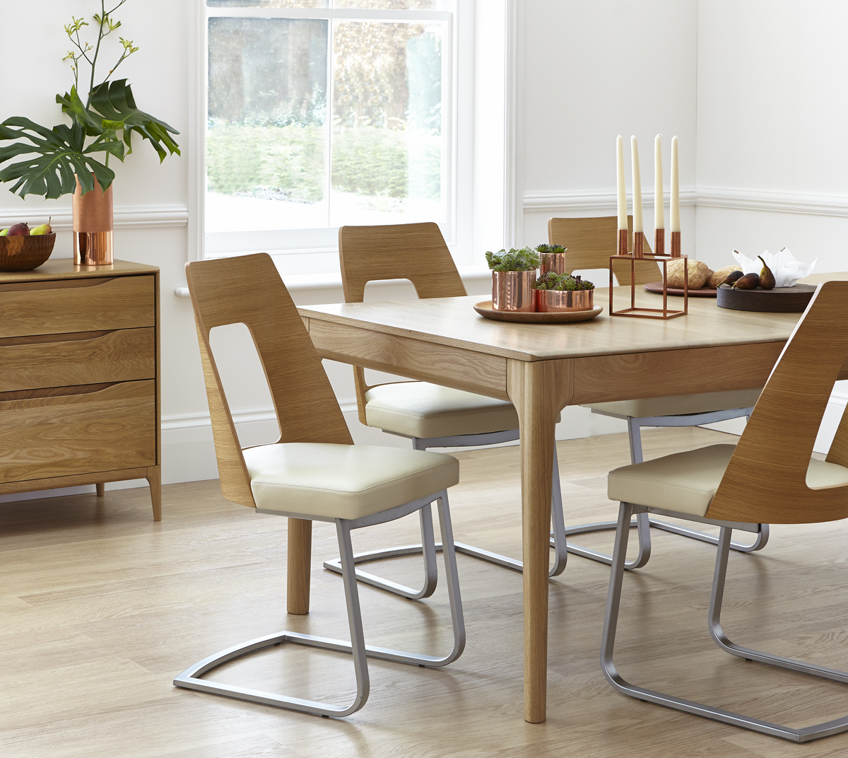 Ercol Romana Cantilevered Dining Chair Choice Furniture