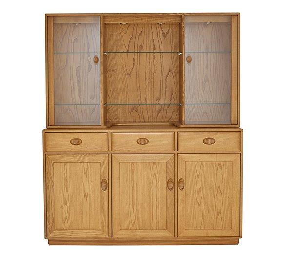 Ercol Windsor 3 Door High Sideboard With Diplay Top