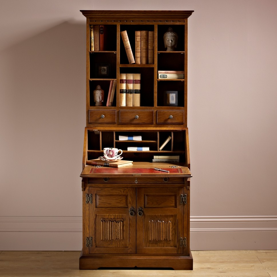 wood bros rose bureau with display top choice furniture. Black Bedroom Furniture Sets. Home Design Ideas
