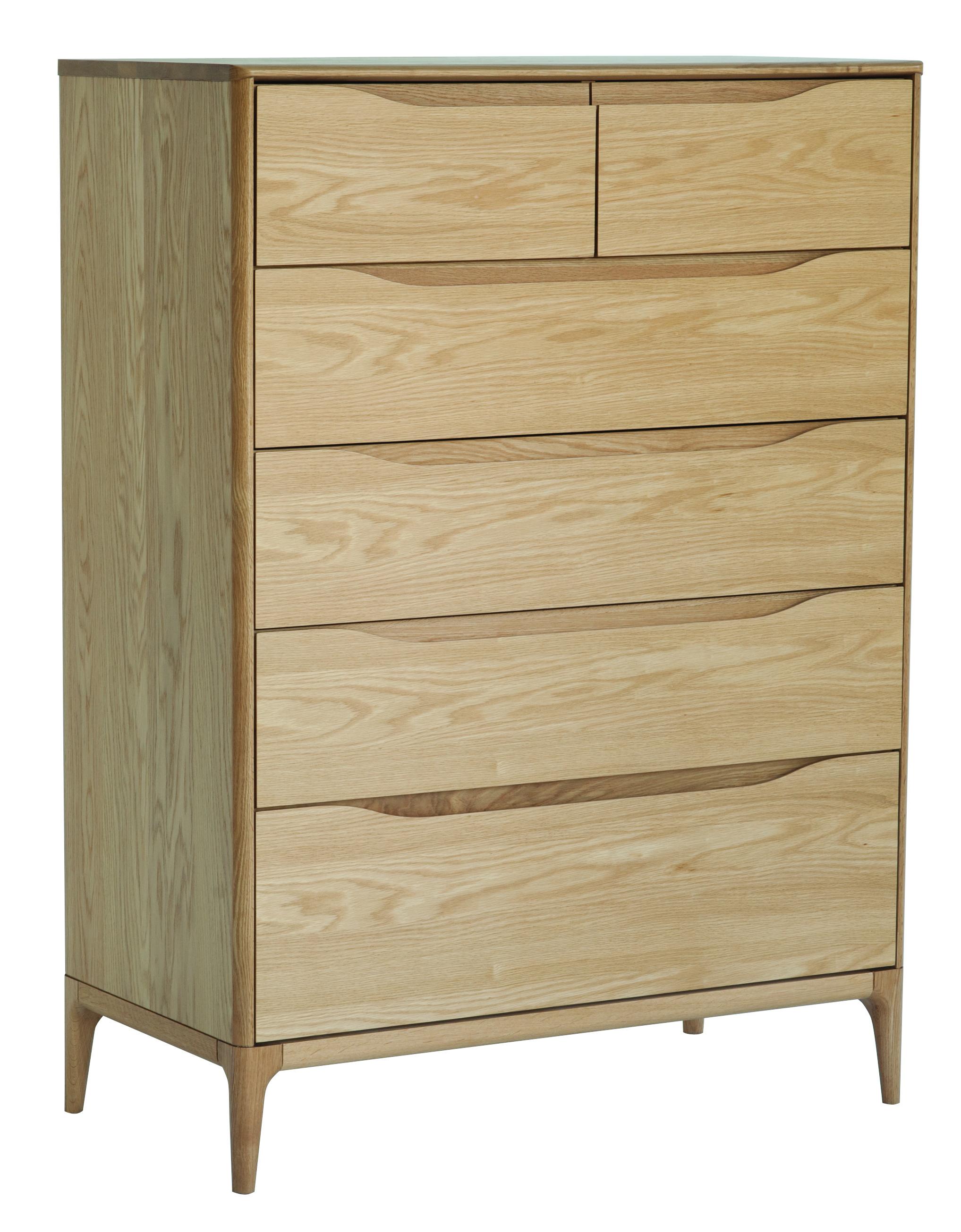 Ercol Rimini 6 Drawer Tall Wide Chest Choice Furniture
